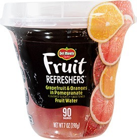 Del Monte Fruit Refreshers: Grapefruit and Oranges in Pomegranate Fruit Water