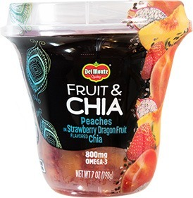 Del Monte Fruit and Chia: Peaches and Strawberry Dragonfruit